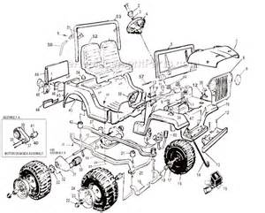 Power Wheels Jeep Parts Power Wheels 76206 9993 Parts List And Diagram