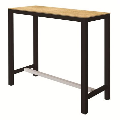 metal high top table high table with metal structure laminated top idfdesign