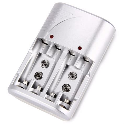 Baterai Aa charger baterai 4 slot with indicator for aa aaa ni mh