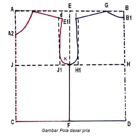 gambar pola dasar pakaian pria dewasa danitailor
