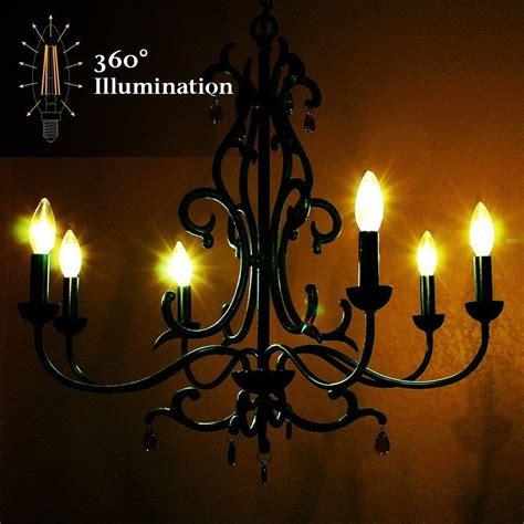 Dimmable Chandelier 40w Equivalent 2700k Daylight Dimmable Warm Chandelier Led Bulbs E12 Candelabra Ebay