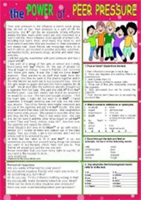 Peer Pressure Worksheets by Worksheet Peer Pressure