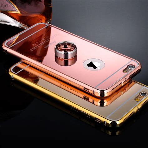 Iphone Metal luxury aluminum ultra thin mirror metal cover for