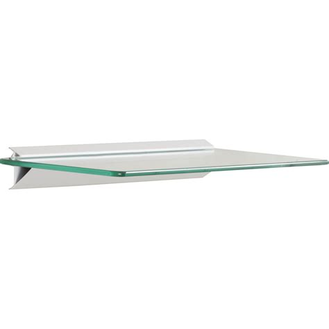 Floating Shelf Glass by Wade Logan Glass Floating Shelf Reviews Wayfair