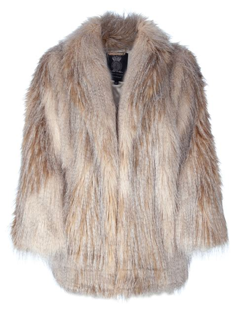 Fur Jacket lyst couture feather faux fur jacket in