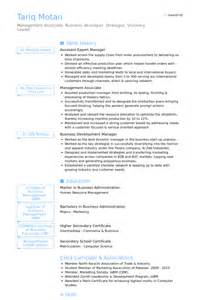 Resume Format For Import Export Executive   Resume Format