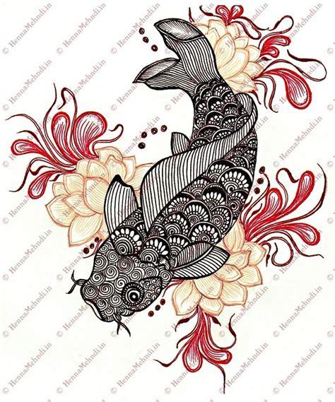 pattern drawing fish koi fish drawing mehndi style designs pinterest