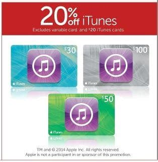 50 Off Target Gift Cards - expired 20 off 30 50 100 itunes cards at target until wednesday gift cards