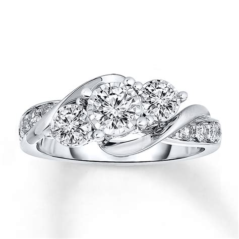Kay   Radiant Reflections Diamond Ring 1 ct tw 14K White Gold