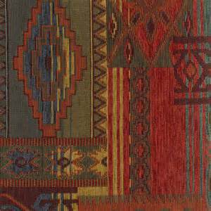 southwest upholstery fabric western lodge sedona sunset