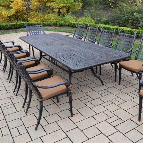belmont patio furniture oakland living belmont aluminum 13 expandable patio