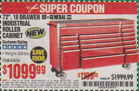26 in 16 drawer glossy red roller cabinet combo harbor freight tools coupon database free coupons 25