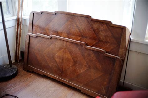 Antique Wood Bed Frame Keep Smiling Updating Decorating The Guest Room