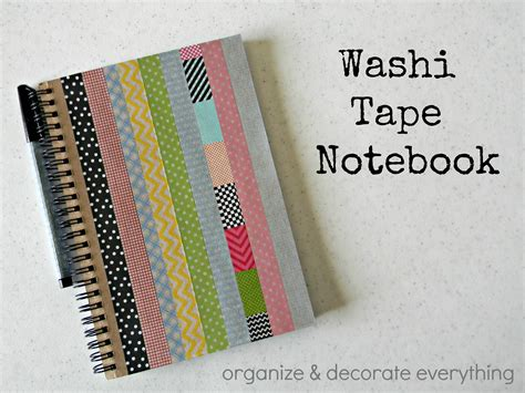 Decorate Notebook washi notebook 2 1 organize and decorate everything