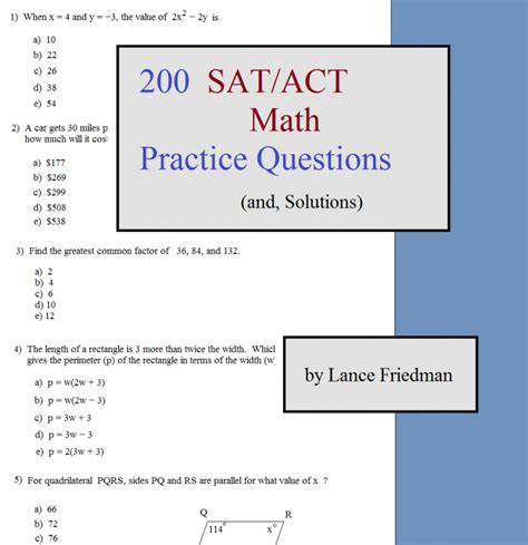 Act Practice Test 1 Section 1 Answers by Math Plane Overview And Random Suggestions