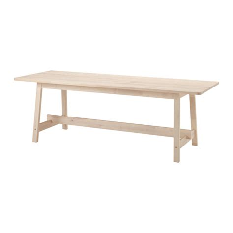 Ikea White Dining Table Norr 197 Ker Table White Birch 220x80 Cm Ikea