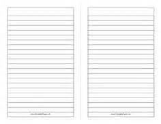 printable lined paper double sided there are three index cards in this printable that can be