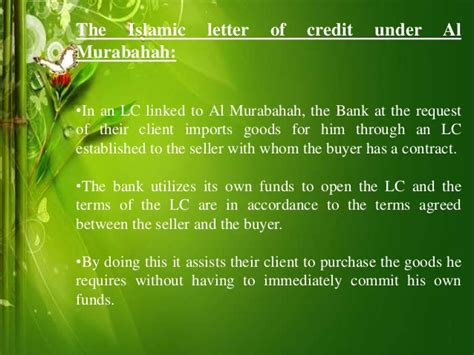 Musharakah Credit Letter Islamic Letter Of Credit