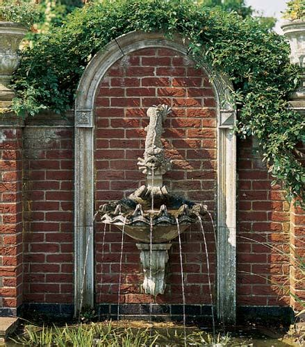 Shell Wall Fountain Beyond The Veranda Garden Wall Features