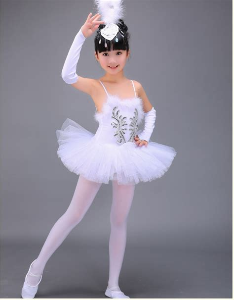 Dress Ballerina professional white swan lake ballet tutu costume