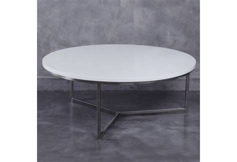 Table Ronde Laquee Blanc