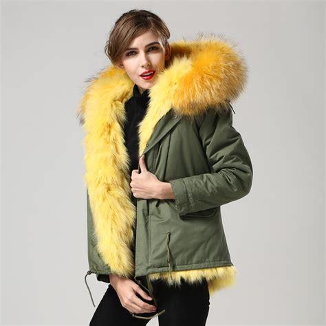 Jaket Rabbit Yellow popular yellow fur coat buy cheap yellow fur coat lots