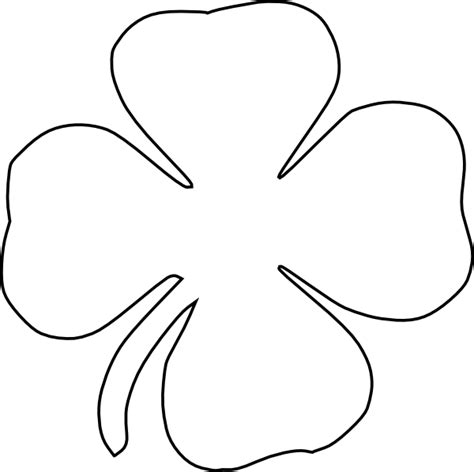 Four Leaf Clover Outline Clip by Clover Clip At Clker Vector Clip Royalty Free Domain