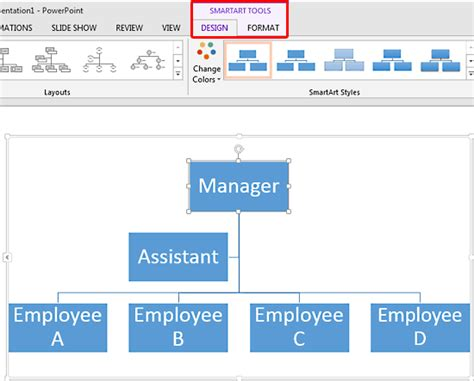 smartart hierarchy layout powerpoint edit org chart in powerpoint 2013 create professional