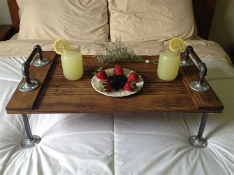 rustic industrial wooden bed tray rustic decor