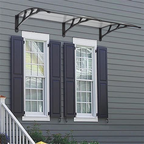patio door awning 80 x40 door window outdoor awning polycarbonate patio sun shade cover canopy ebay