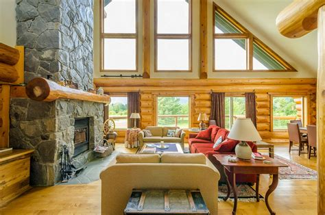 Log Homes Interior Designs by Log Cabin Interiors For The Most Comfortable Log Cabin At