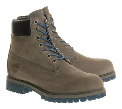 timberland boots grey timberland exclusive 6 inch boot in gray grey lyst