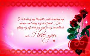 Love Quotes For Cards by Valentine S Day Card I Love You Widescreen Wallpaper