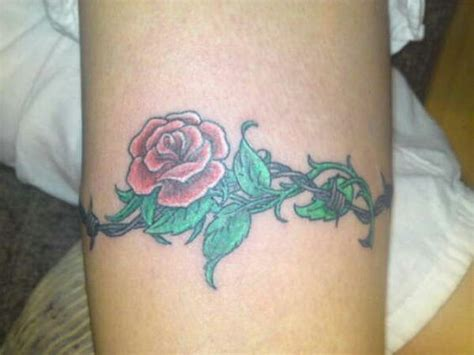 rose and barbed wire tattoo barbed wire with ideas