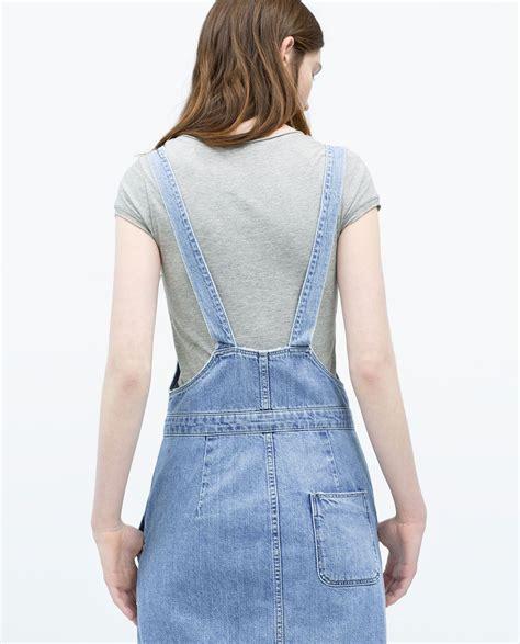 Amanda Overall Skirt zara trf denim bib front dungaree dress denim
