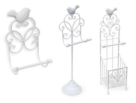 stand wall metallic vintage shabby chic toilet paper