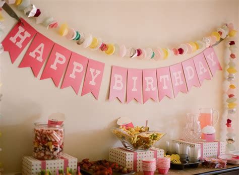 Handmade Birthday Decorations - pink diy cupcake birthday