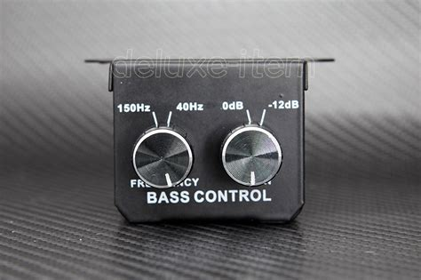 Bass Adjustment Knob by Car Home Lifier Subwoofer Equalizer Crossover Rca