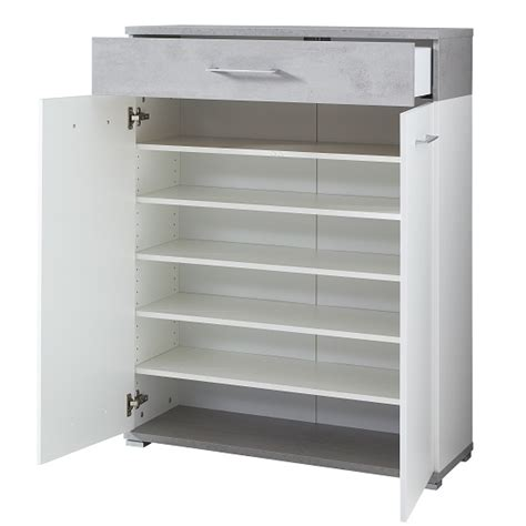 modern shoe storage cabinet zanotti modern shoe storage cabinet in white and concrete