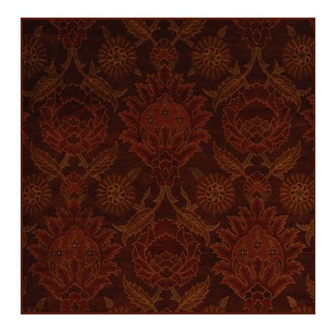 4 foot square rug icustomrug ruby 4 ft x 4 ft square area rug jewel4 the home depot