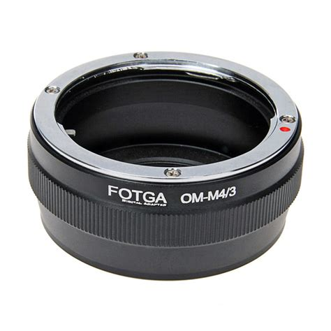 fotga olympus om lens to panasonic micro 4 3 adapter ring black free shipping dealextreme