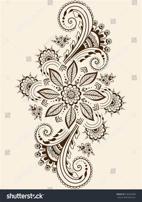 indian henna tattoo vector hindu henna patterns makedes
