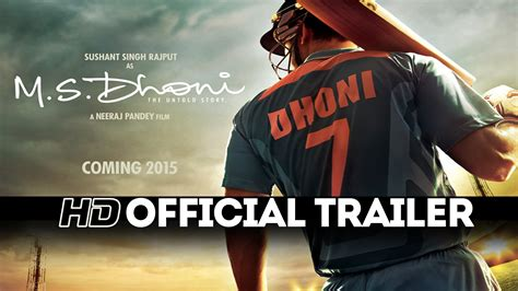dhoni biography movie trailer m s dhoni official movie trailer