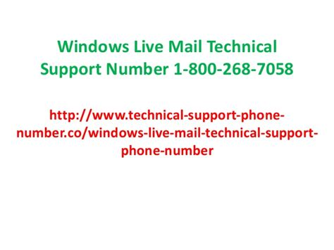 1 800 251 4919 windows live mail support or help customer support