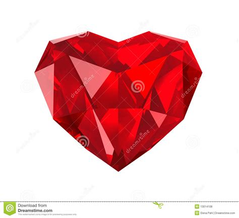 red gem red gem heart stock illustration image of gift isolate