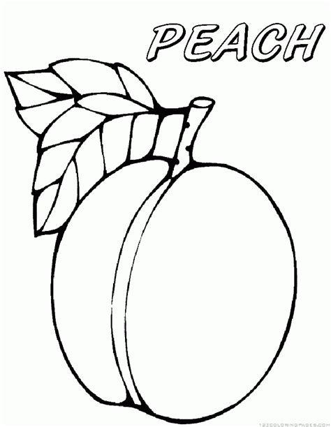 peach coloring sheet coloring pages