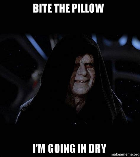 Bite The Pillow by Bite The Pillow I M Going In Sith Lord Make A Meme
