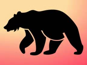 free silhouette images bear silhouette