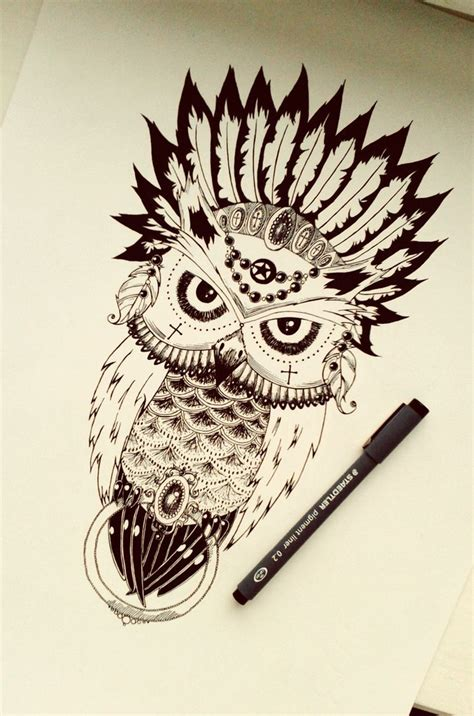 evil owl by es enim anima on deviantart