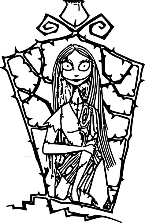 free printable nightmare before coloring pages